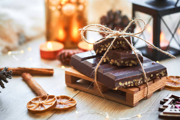 Typical Spanish Christmas turron stock photo