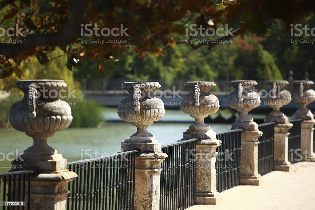 Español decoración típica en la antigua ciudad de Aranjuez - foto de stock