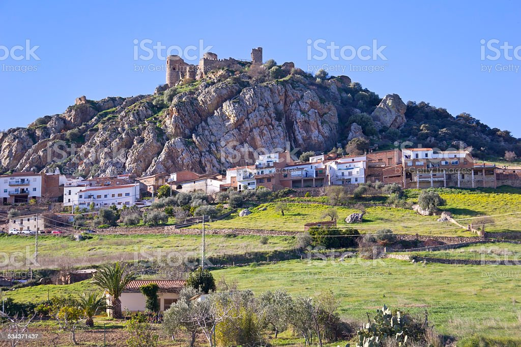 Typical Spanish Village stock photo