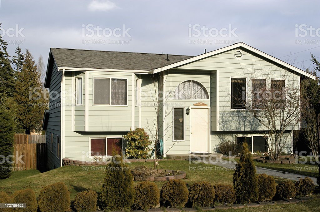 Typical Split Level Home of the 1980s stock photo