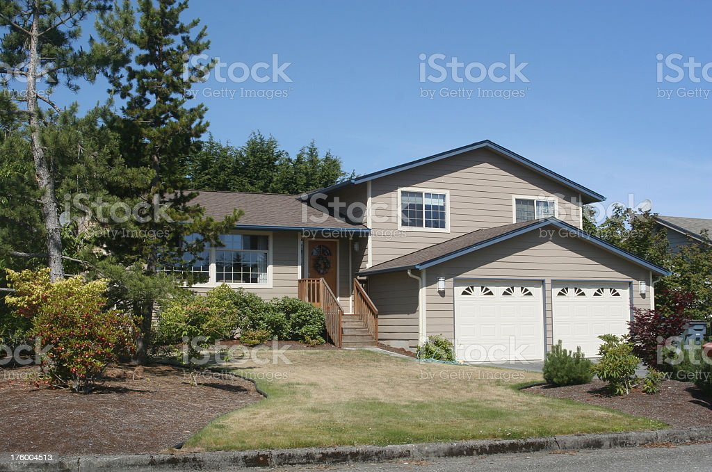 Typical Split Level Home stock photo