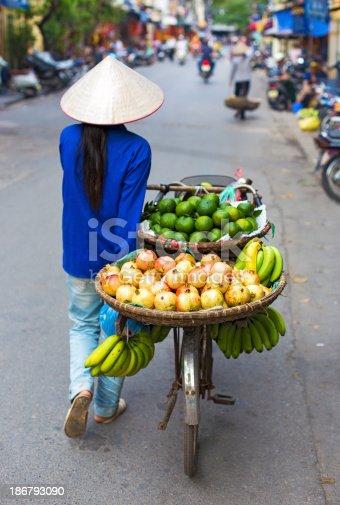 istock Typical street vendor in Hanoi 186793090