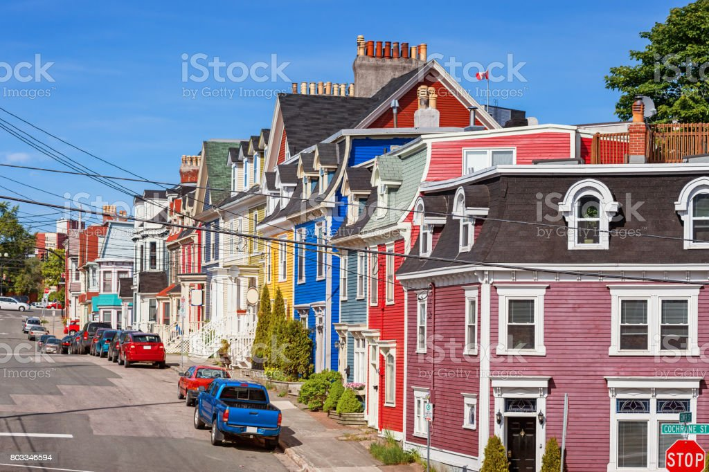 Typical Street With Colorful Houses In St Johns Newfoundland Canada on churches in canada, houses from canada, typical houses puerto rico, tree house in canada, moving house in canada, museums in canada, mansions in canada, toronto canada, typical houses scotland, bridges in canada, lodges in canada, homes in canada, hotels in canada, typical house in india, typical house in china, largest lake in canada, old house in canada, convents in canada, biggest house in canada, castles in canada,
