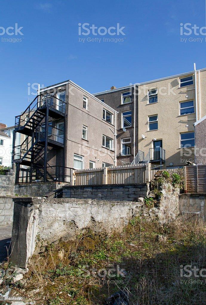 Casas Típicas De La Terraza En El Reino Unido Foto De Stock