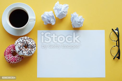 istock Typical things which you need at work 636095054