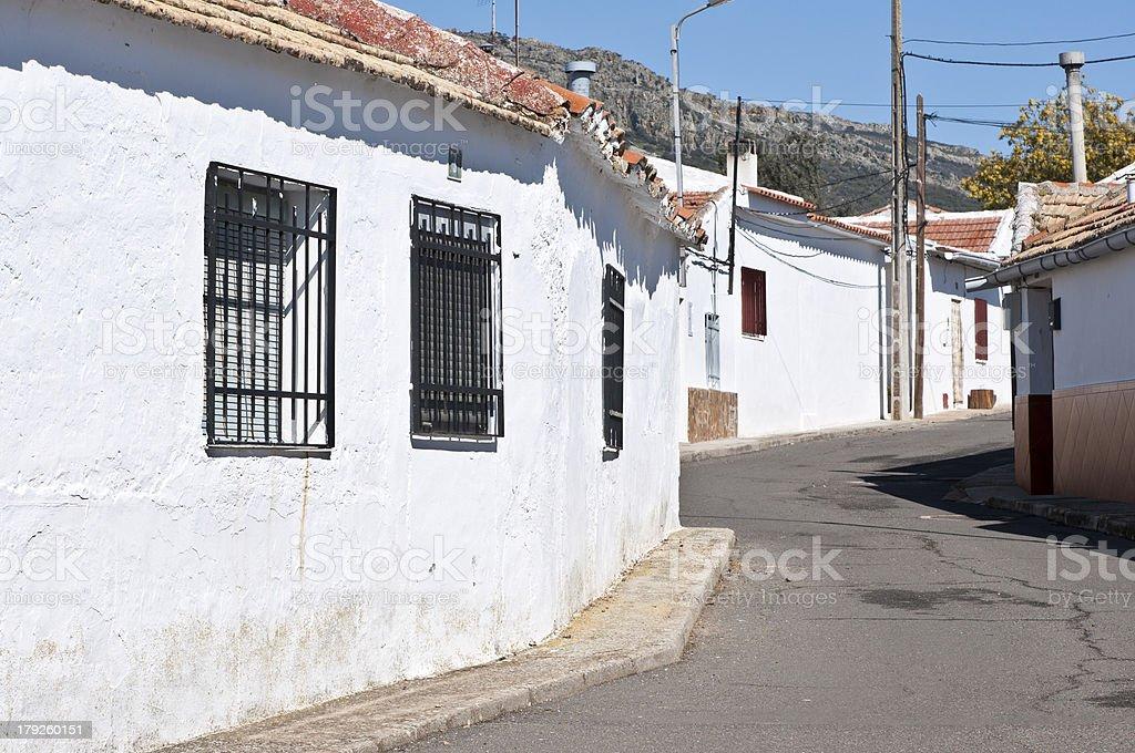 Typical town of La Mancha stock photo
