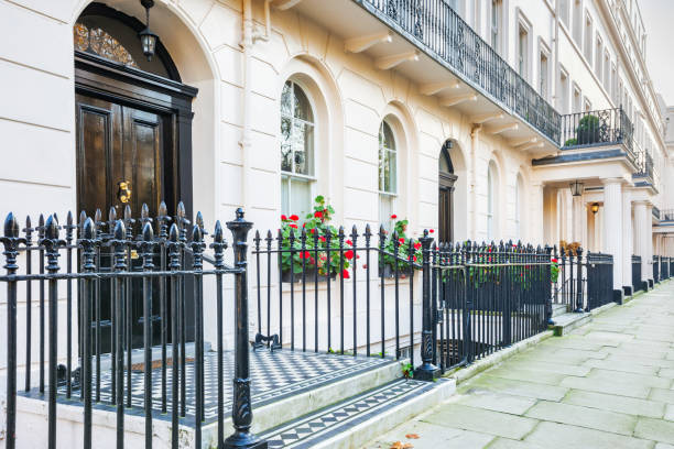 Typical townhouses in Belgravia London England UK stock photo