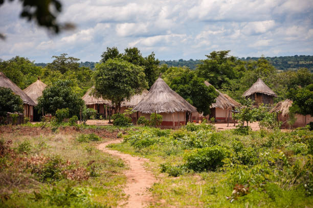 Typical traditional African village