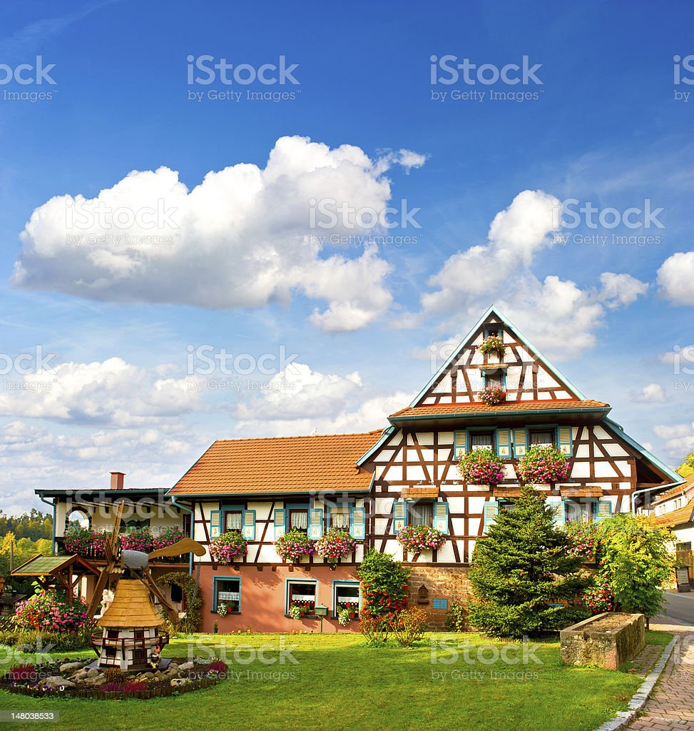 typical traditional house in the Black Forest, Germany stock photo