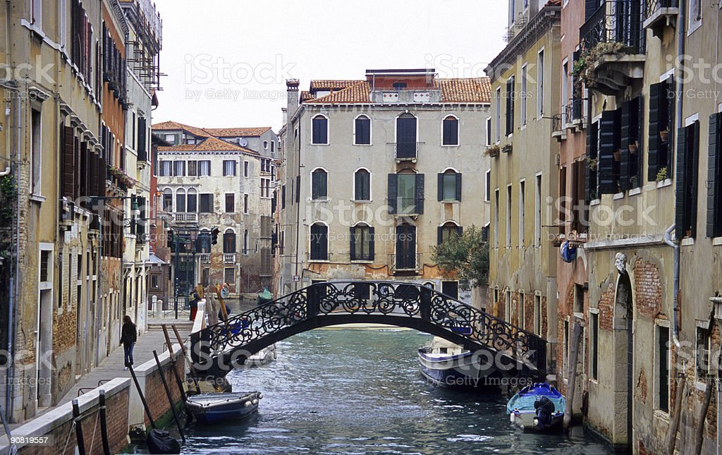 Typical Venetian Canal royalty-free stock photo
