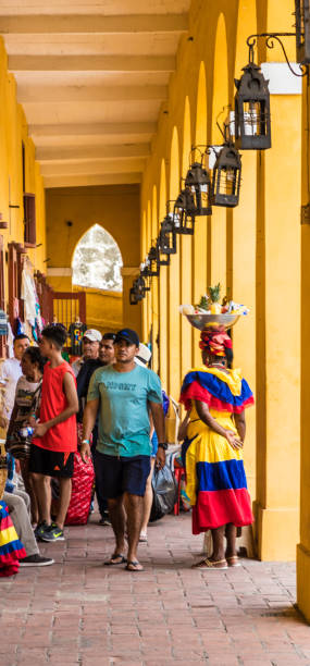 a typical view of cartagena colombia - cartagena museum stock photos and pictures