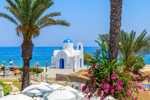 typical view of cyprus shore, cyprus - cyprus стоковые фото и изображения