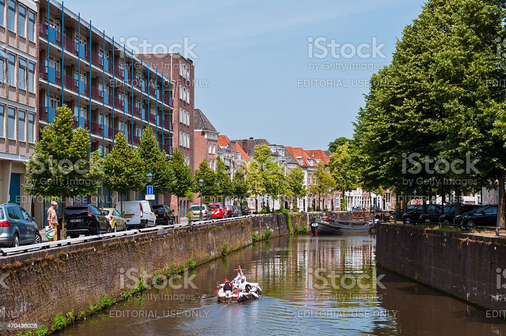 Typical view of Dutch city stock photo