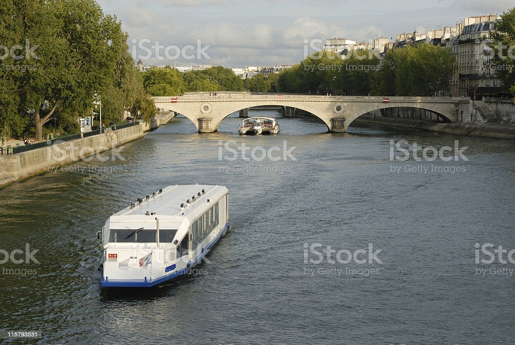 typical view of paris stock photo