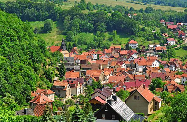 Typisches Dorf in Thüringen, Deutschland – Foto