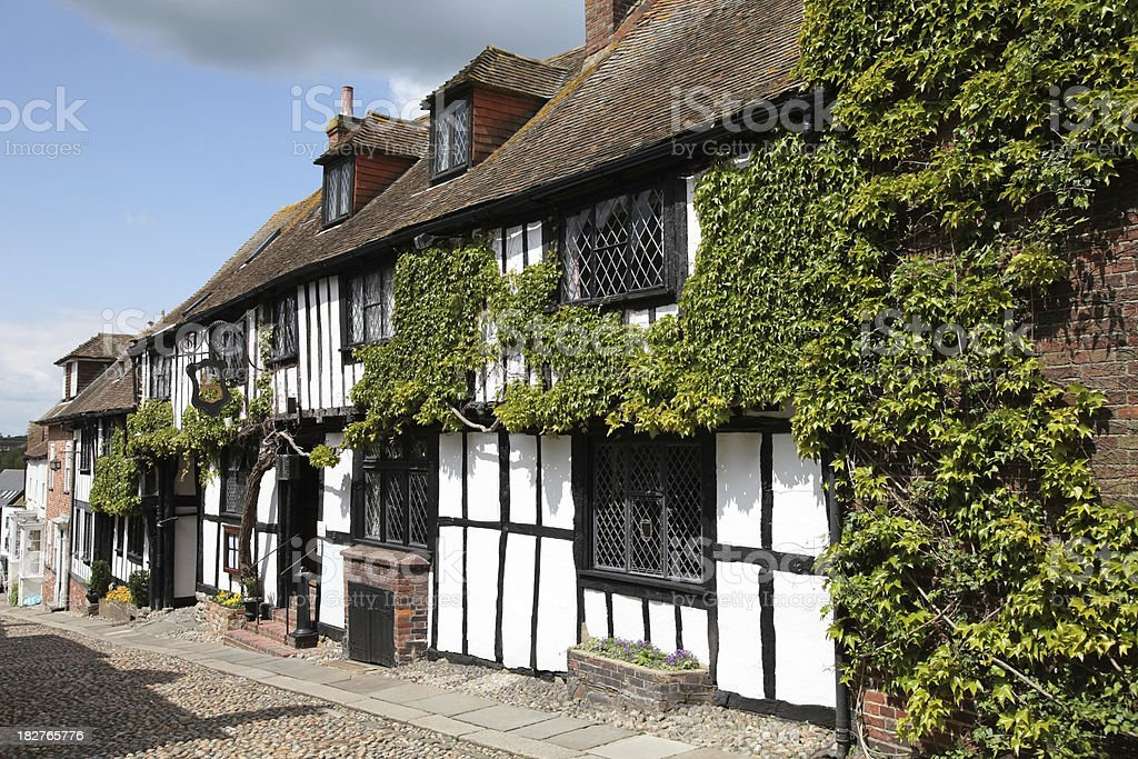 Typical wooden framed building in Rye, East Sussex, England, UK stock photo