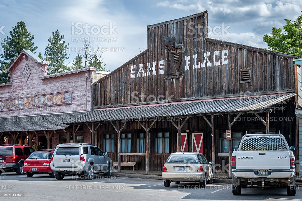 typical wooden saloon stock photo