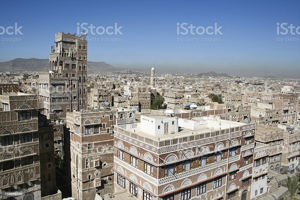 Typical yemeni architecture, Sanaa (Yemen). royalty-free stock photo