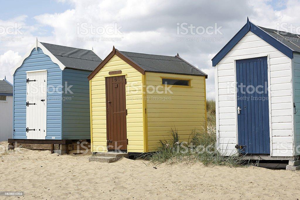 Typically English beach huts royalty-free stock photo