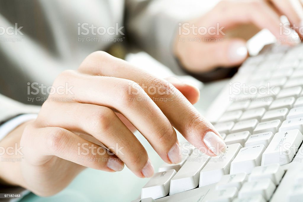 Typing letters royalty-free stock photo