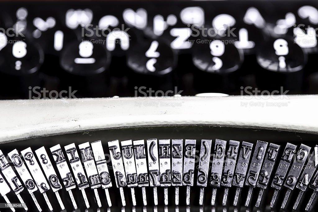 typing machine abstract royalty-free stock photo