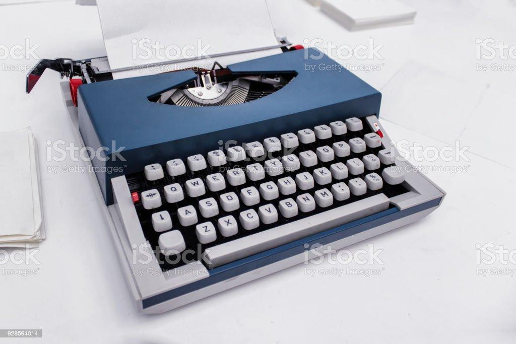 Typing machine stock photo