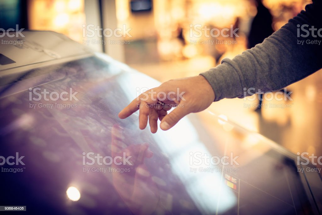 Typing on automated. stock photo
