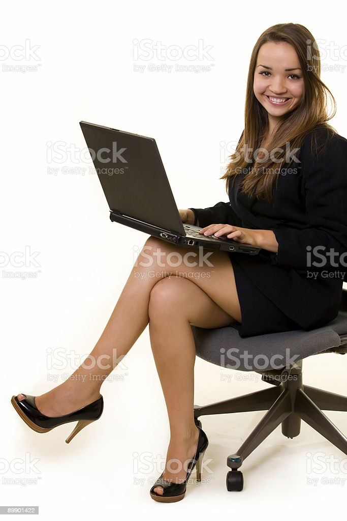 Typing on laptop royalty-free stock photo