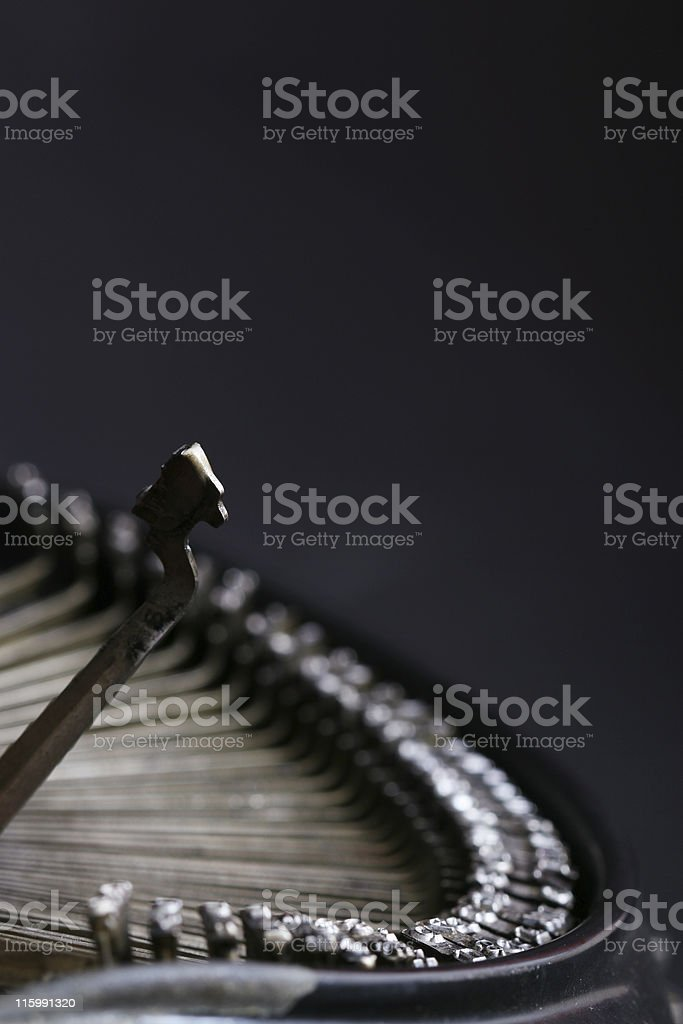 Typing royalty-free stock photo