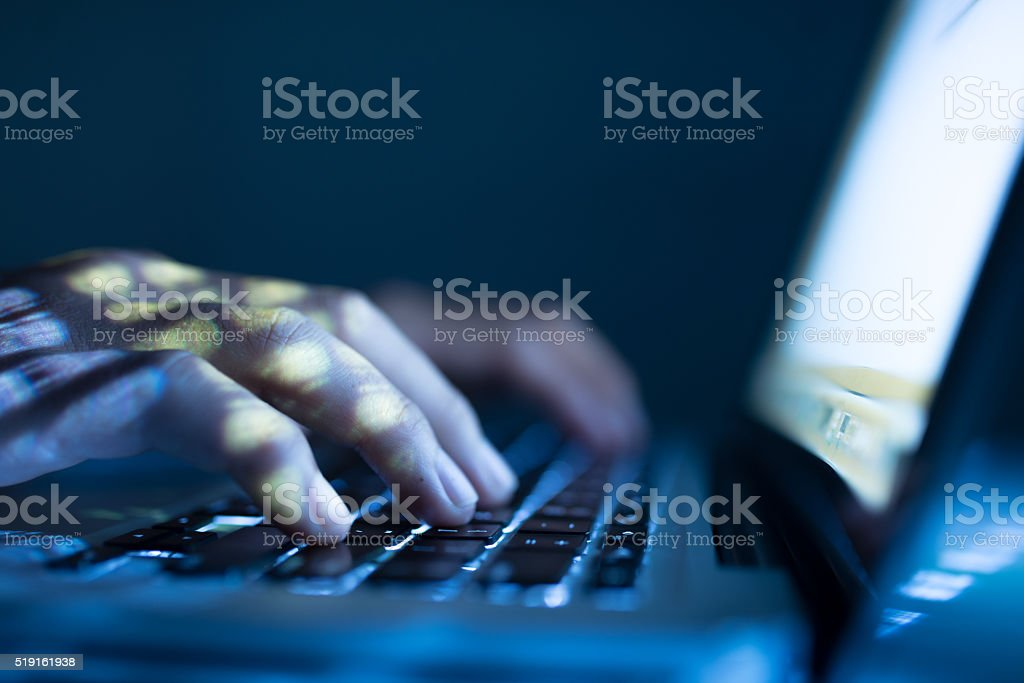Typing stock photo