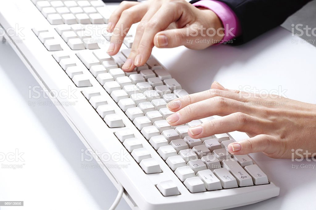 Typing work royalty-free stock photo