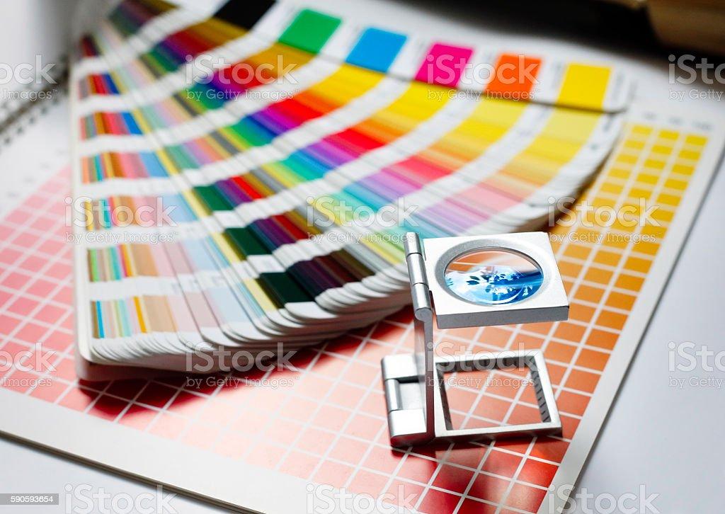 Typographic equipment stock photo