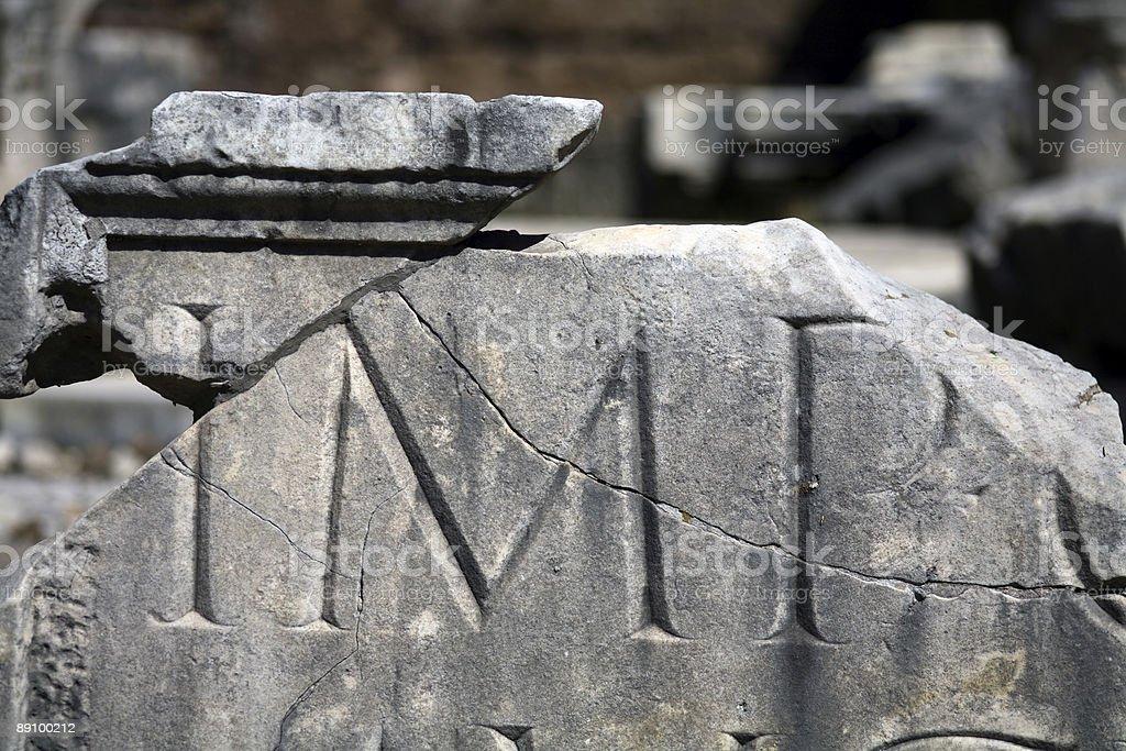 typographic history - trajan royalty-free stock photo