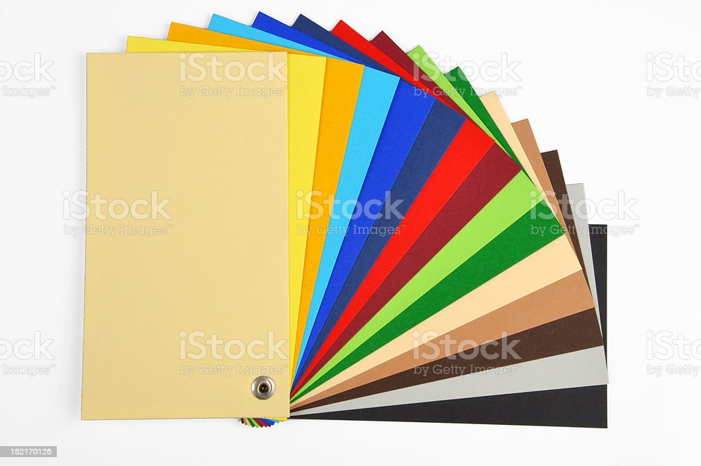 typographical color scale royalty-free stock photo