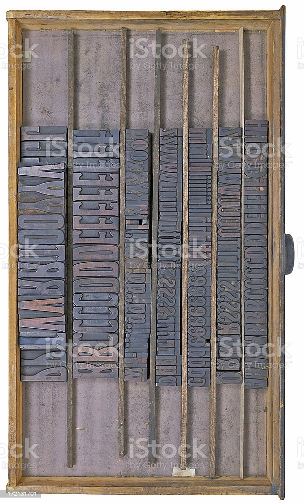 Typographical suitcase royalty-free stock photo