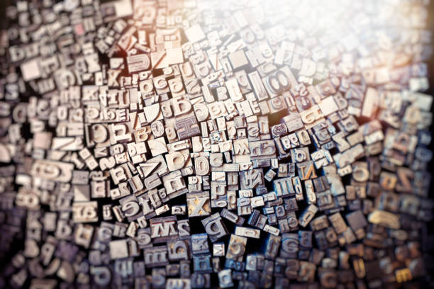 typography letters stock photo