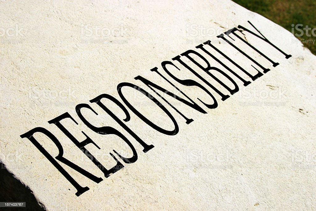 Typography Of The Word Responsibility Stock Photo ...