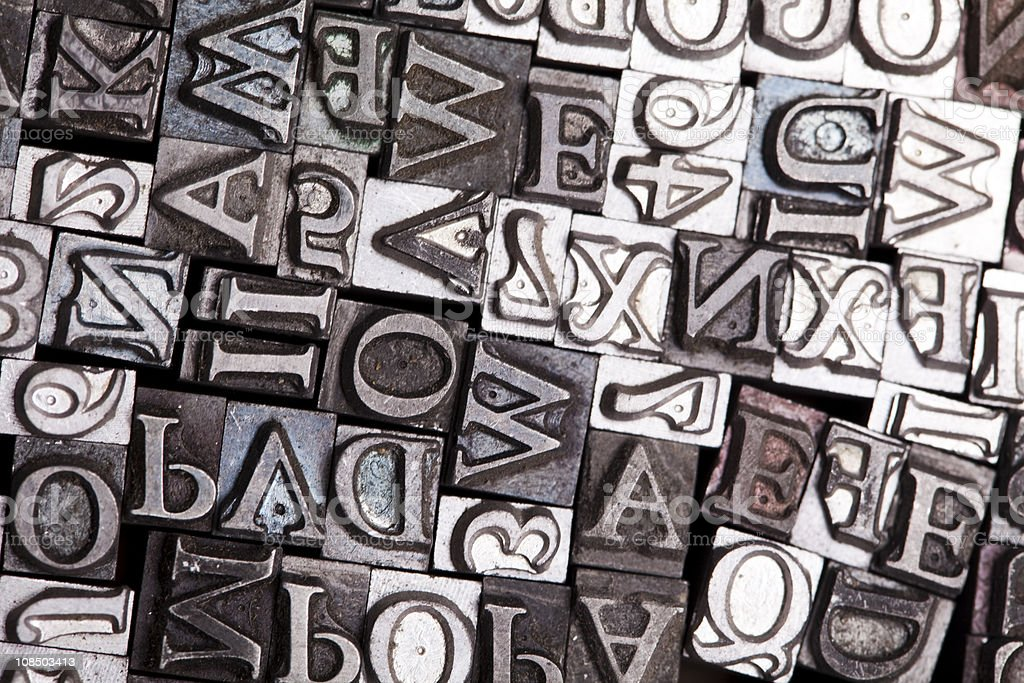 Typography - Royalty-free Alphabet Stock Photo