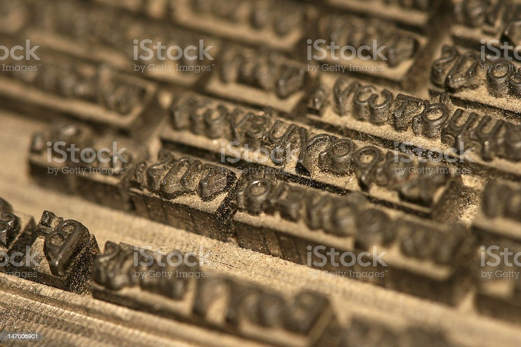 typography royalty-free stock photo