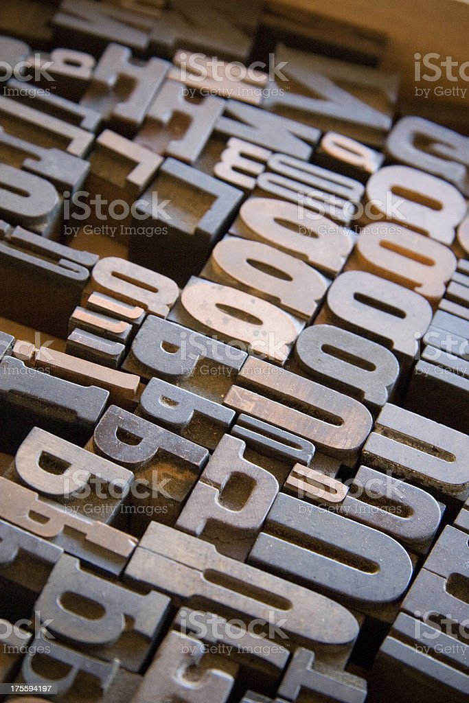 Typography the Old Way royalty-free stock photo