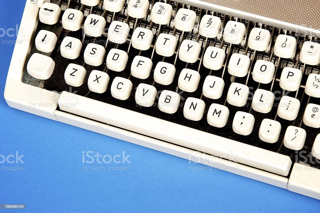 Typwriter Keys royalty-free stock photo
