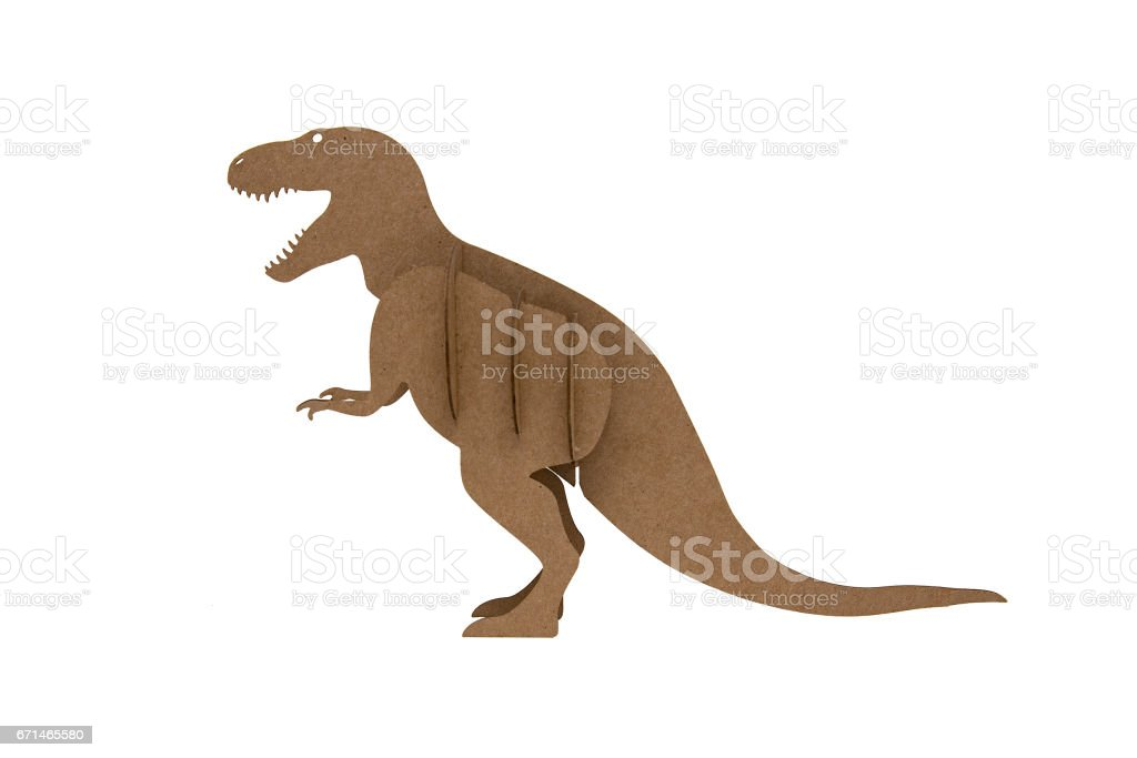 tyrannosaur Rex made out of cardboard stock photo