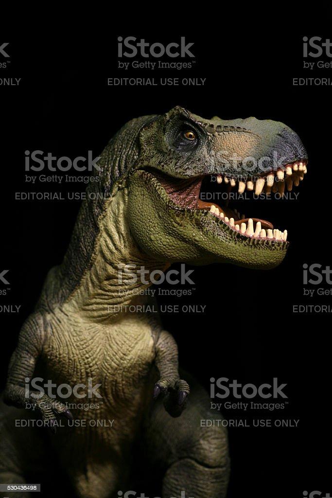 Tyrannosaurus Rex Kunststoff Modell Porträt brüllend – Foto
