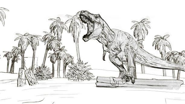 Rugissement de Tyrannosaurus rex - Photo