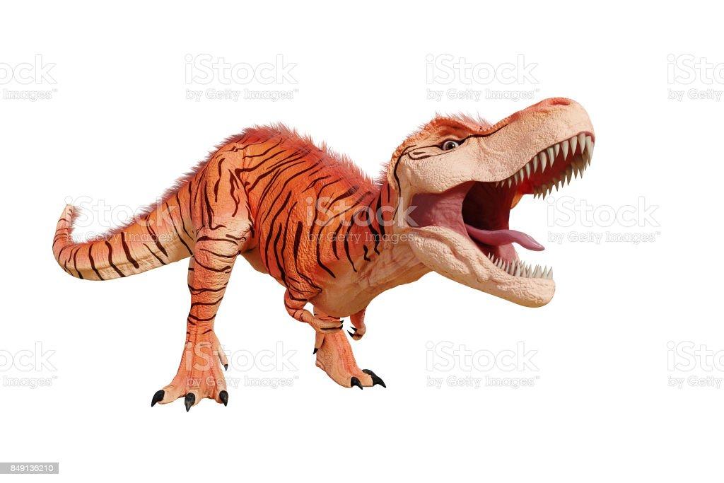 Tyrannosaurus Rex With Natural Camouflage Trex Dinosaur Fr Stock ...