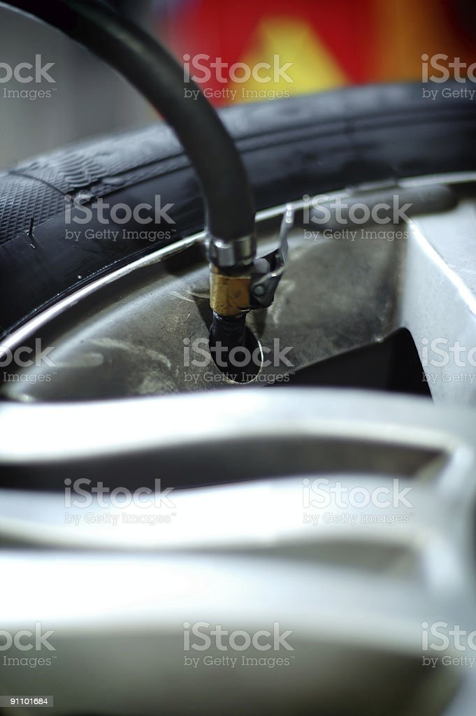 tyre assistance royalty-free stock photo