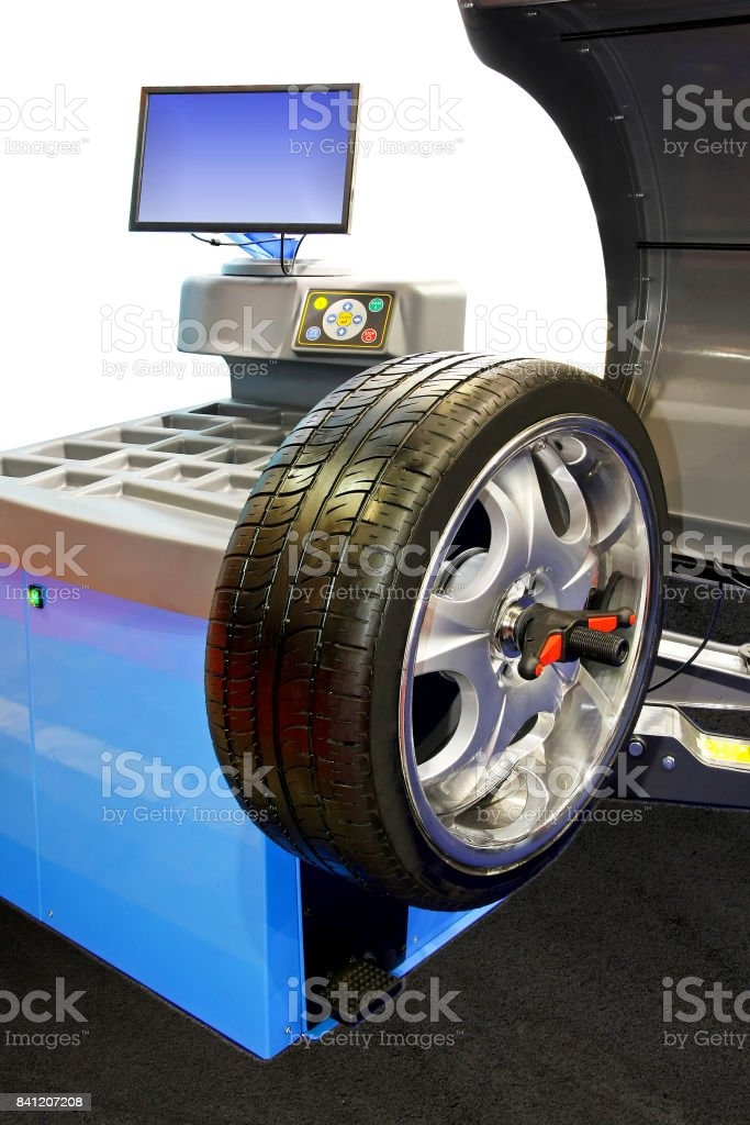 Tyre balancing stock photo