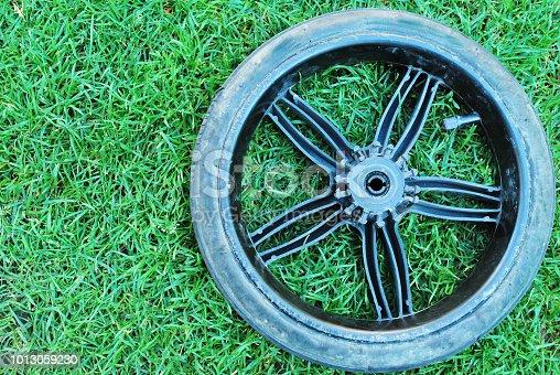 Tyre On Grass