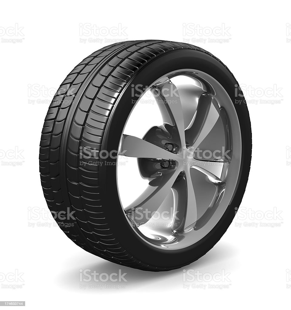 Tyre royalty-free stock photo