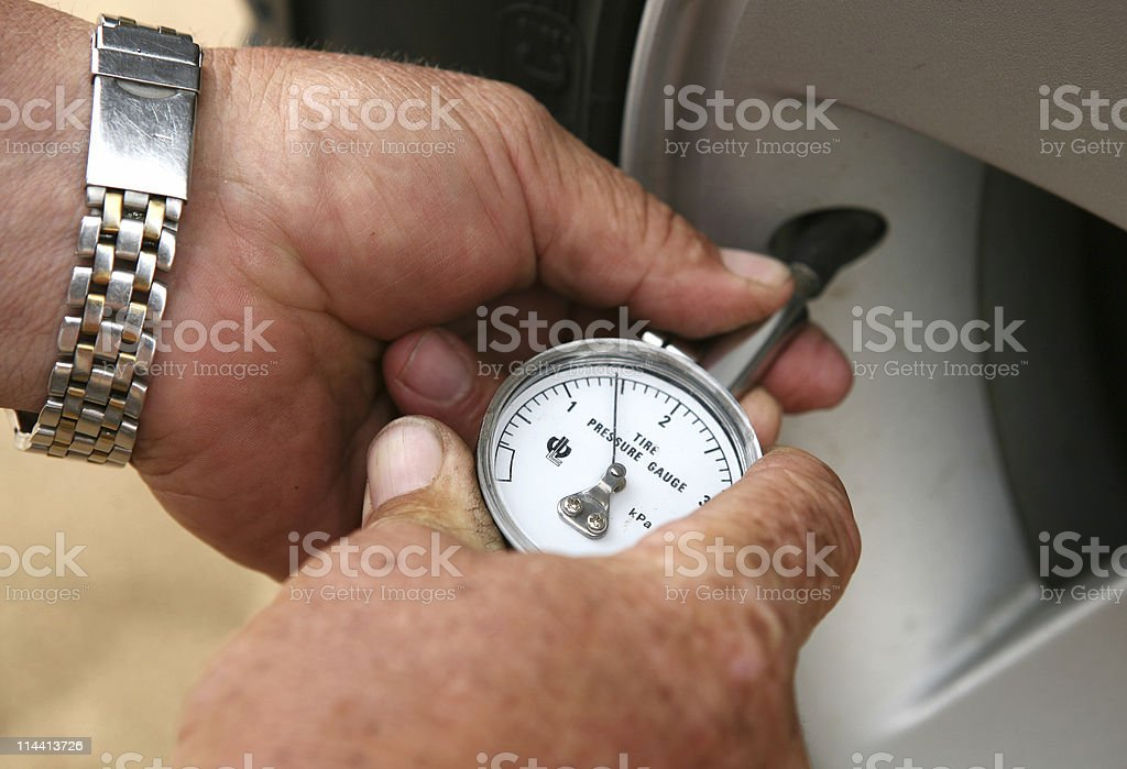 tyre pressure royalty-free stock photo